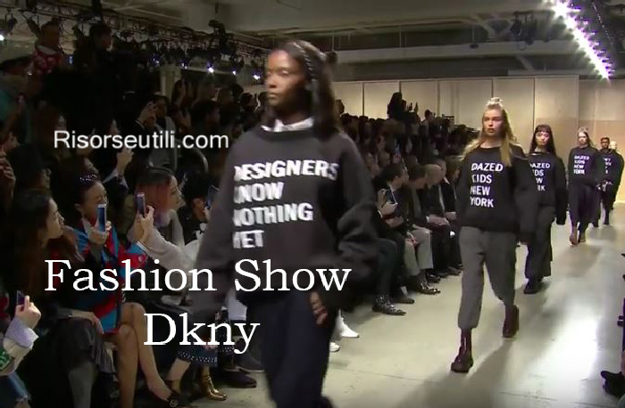 Fashion show Dkny fall winter 2016 2017 womenswear