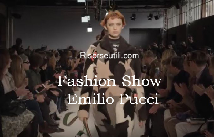 Fashion show Emilio Pucci fall winter 2016 2017 womenswear