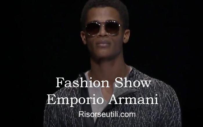 Fashion show Emporio Armani fall winter 2016 2017 menswear