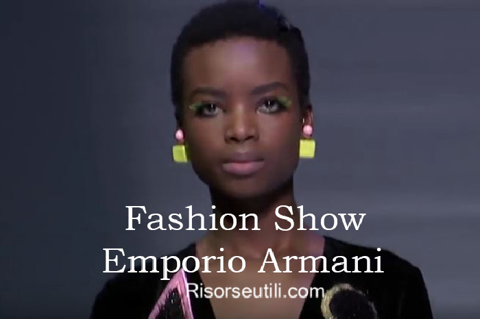 Fashion show Emporio Armani fall winter 2016 2017 womenswear
