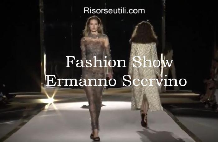Fashion show Ermanno Scervino fall winter 2016 2017 womenswear