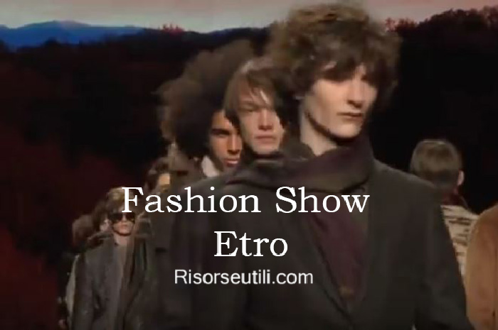 Fashion show Etro fall winter 2016 2017 menswear