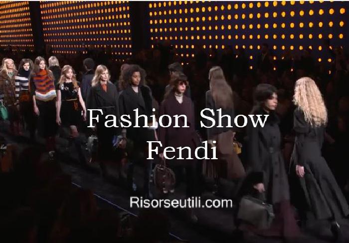 Fashion show Fendi fall winter 2016 2017 womenswear