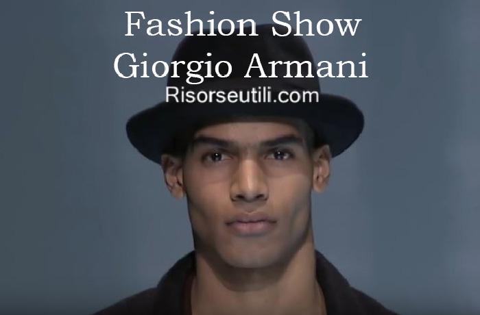 Fashion show Giorgio Armani fall winter 2016 2017 menswear