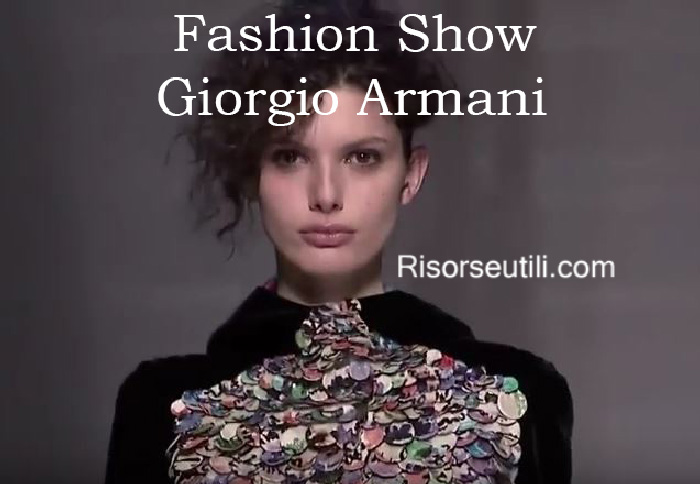 Fashion show Giorgio Armani fall winter 2016 2017 womenswear