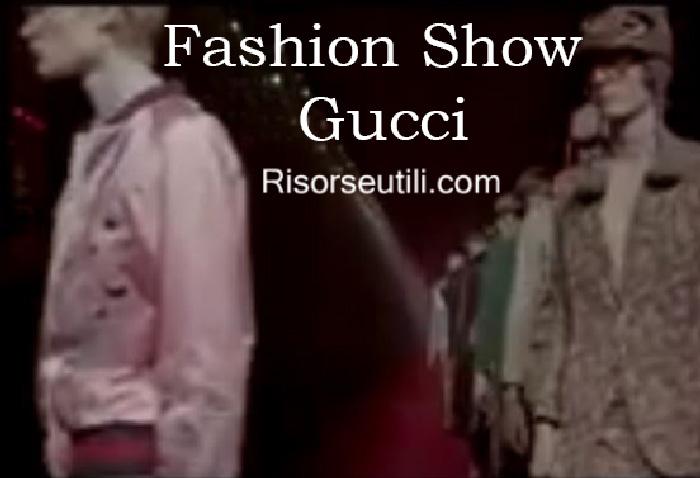 Fashion show Gucci fall winter 2016 2017 menswear