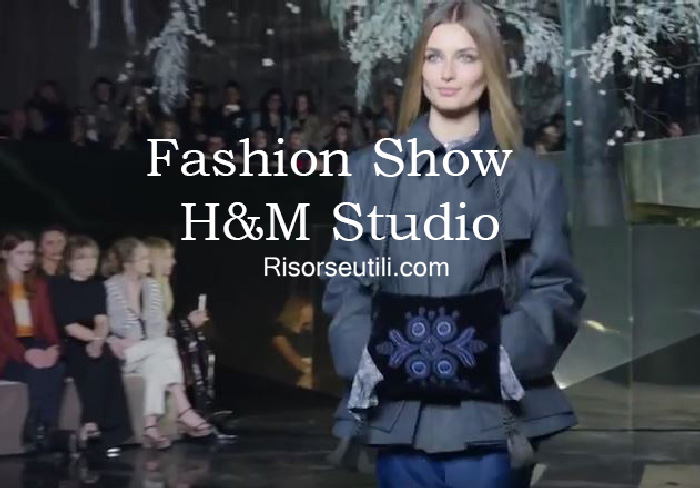 Fashion show HM Studio fall winter 2016 2017 womenswear