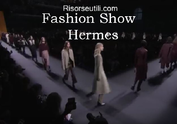 Fashion show Hermes fall winter 2016 2017 womenswear