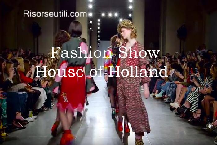 Fashion show House of Holland fall winter 2016 2017 womenswear