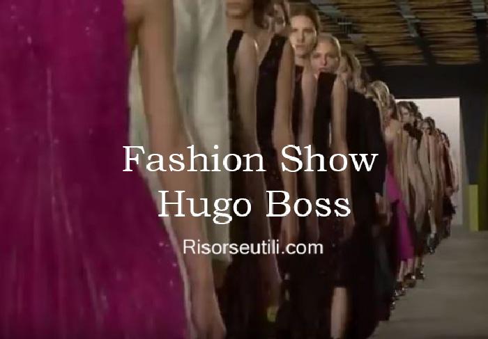 Fashion show Hugo boss fall winter 2016 2017 womenswear