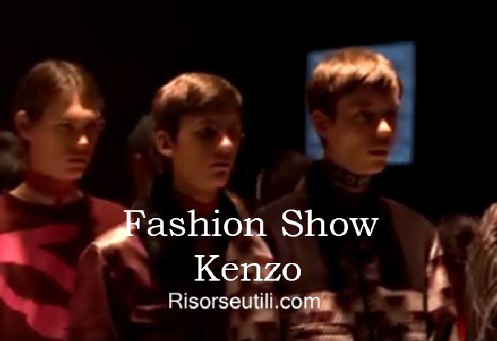 Fashion show Kenzo fall winter 2016 2017 menswear