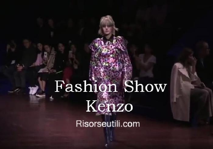 Fashion show Kenzo fall winter 2016 2017 womenswear