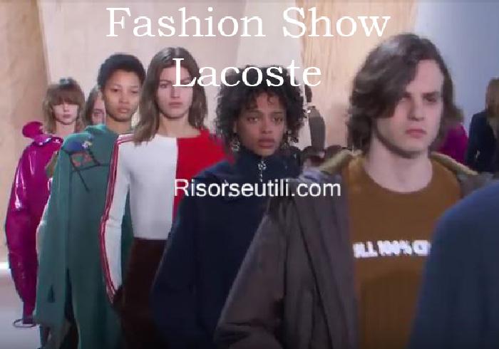 Fashion show Lacoste fall winter 2016 2017