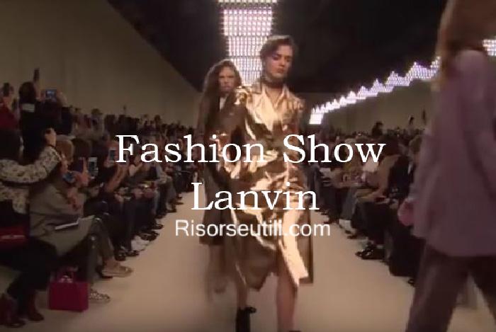 Fashion show Lanvin fall winter 2016 2017 womenswear