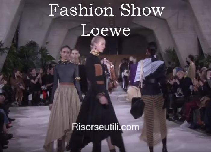 Fashion show Loewe fall winter 2016 2017 womenswear