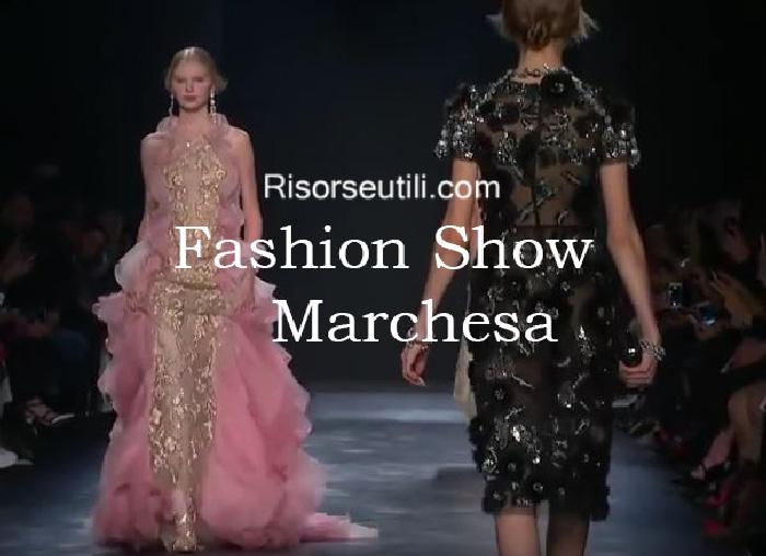 Fashion show Marchesa fall winter 2016 2017 womenswear
