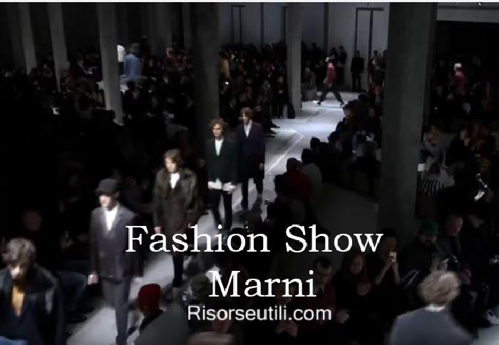Fashion show Marni fall winter 2016 2017 menswear