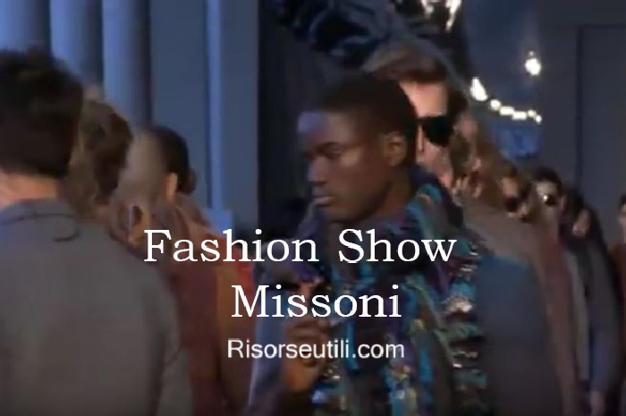 Fashion show Missoni fall winter 2016 2017 menswear