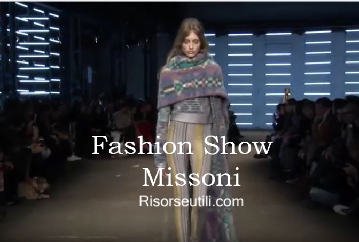 Fashion show Missoni fall winter 2016 2017 womenswear
