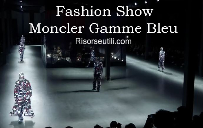 Fashion show Moncler Gamme Bleu fall winter 2016 2017