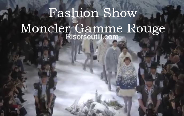 Fashion show Moncler Gamme Rouge fall winter 2016 2017