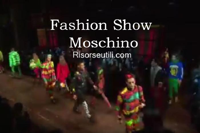 Fashion show Moschino fall winter 2016 2017 menswear