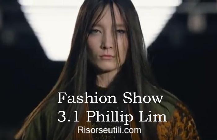 Fashion show 3.1 Phillip Lim fall winter 2016 2017 womenswear