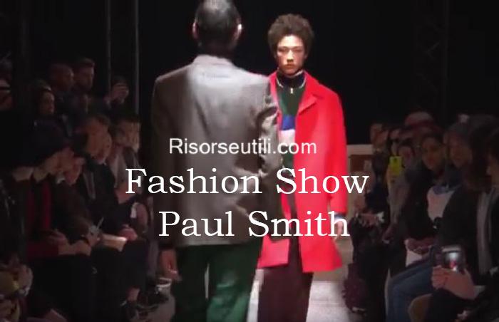 Fashion show Paul Smith fall winter 2016 2017 menswear