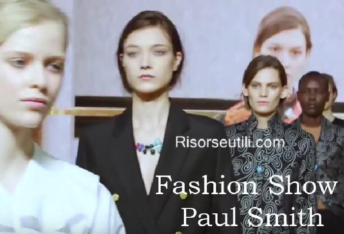 Fashion show Paul Smith fall winter 2016 2017 womenswear