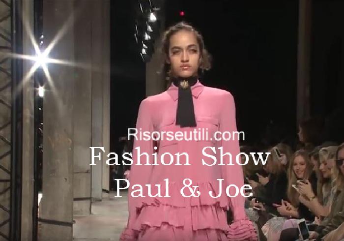Fashion show Paul Joe fall winter 2016 2017 womenswear