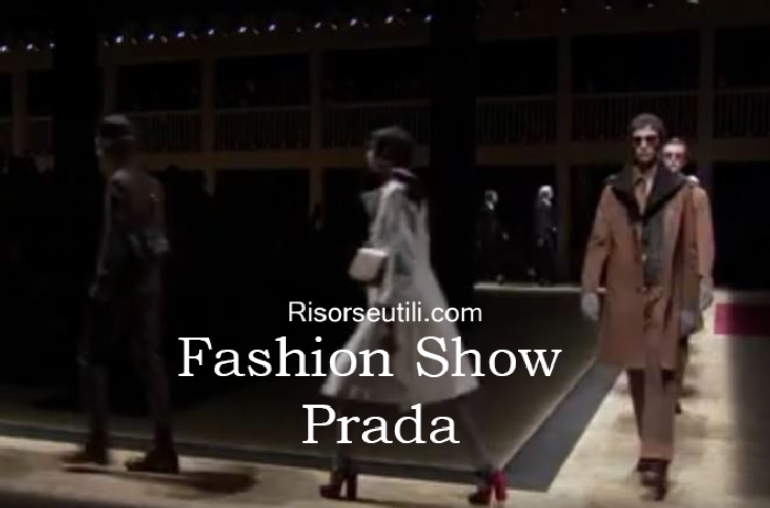 Fashion show Prada fall winter 2016 2017