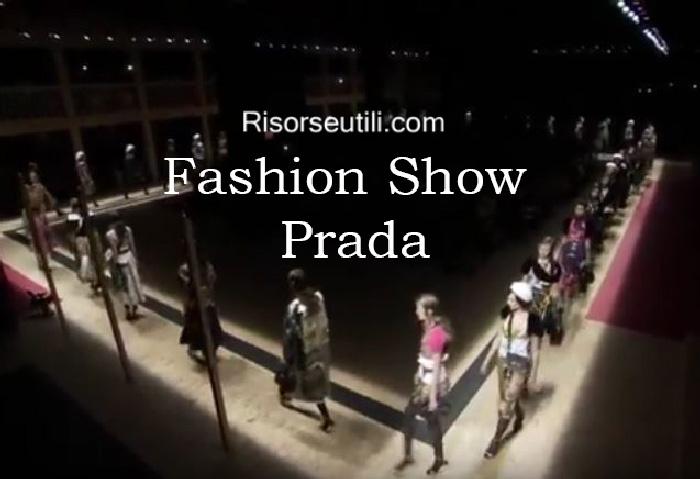 Fashion show Prada fall winter 2016 2017 womenswear
