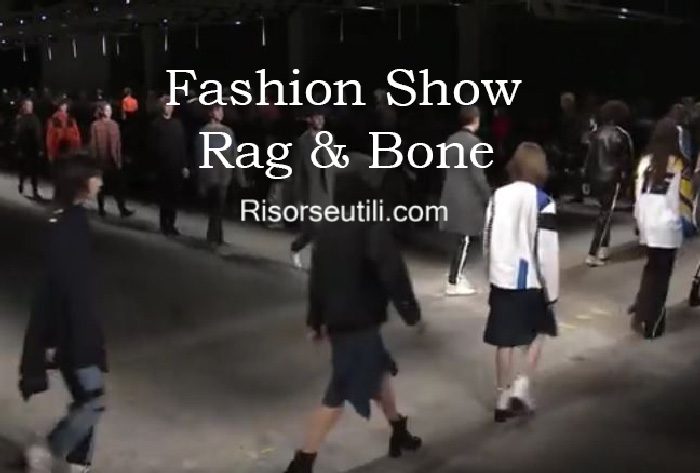 Fashion show Rag Bone fall winter 2016 2017