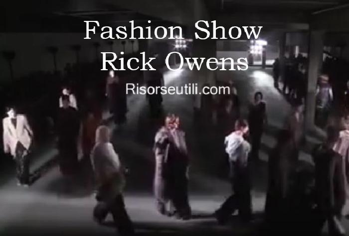 Fashion show Rick Owens fall winter 2016 2017 menswear