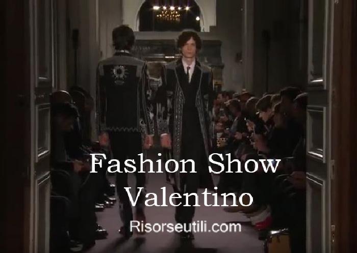Fashion show Valentino fall winter 2016 2017 menswear