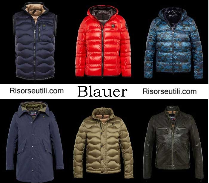 Down jackets Blauer fall winter 2016 2017 menswear