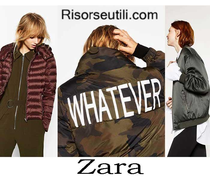 Down jackets Zara fall winter 2016 2017 womenswear