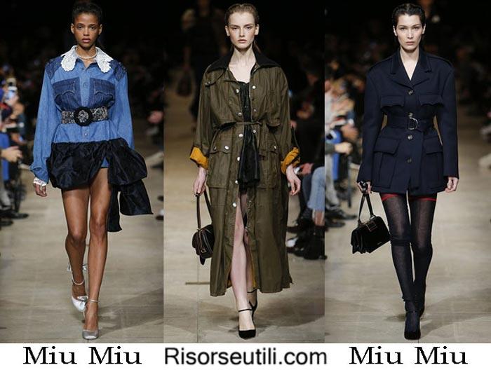 Fashion brand Miu Miu fall winter 2016 2017 women