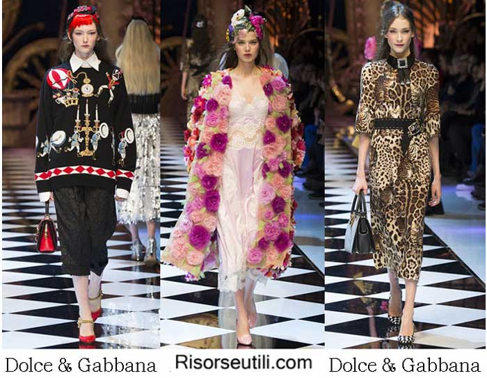 Fashion clothing Dolce Gabbana fall winter 2015 2016 women