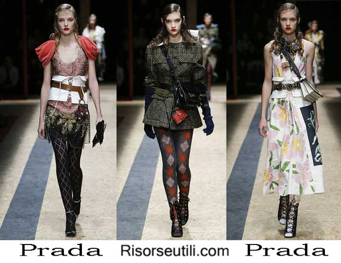 Fashion clothing Prada fall winter 2016 2017 women