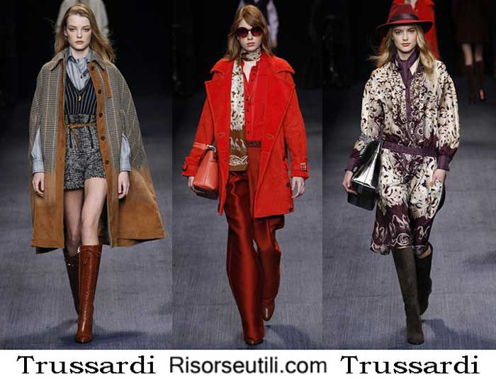 Fashion clothing Trussardi fall winter 2016 2017 women