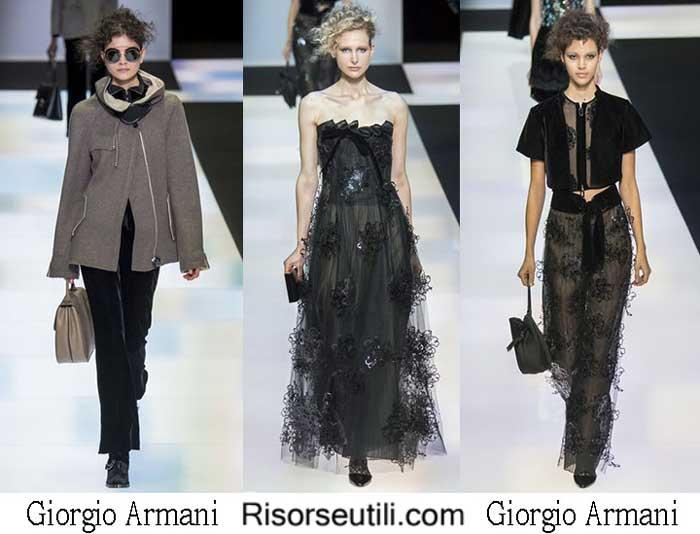 Giorgio Armani fall winter 2016 2017 womenswear
