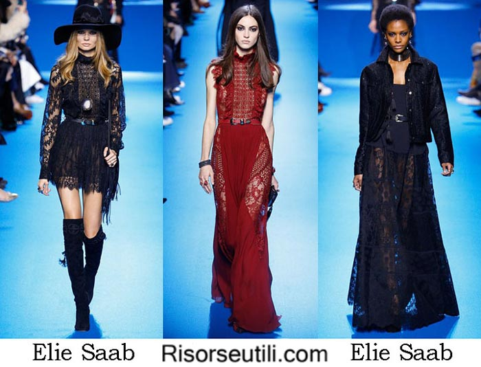 Fashion brand Elie Saab fall winter 2016 2017 women
