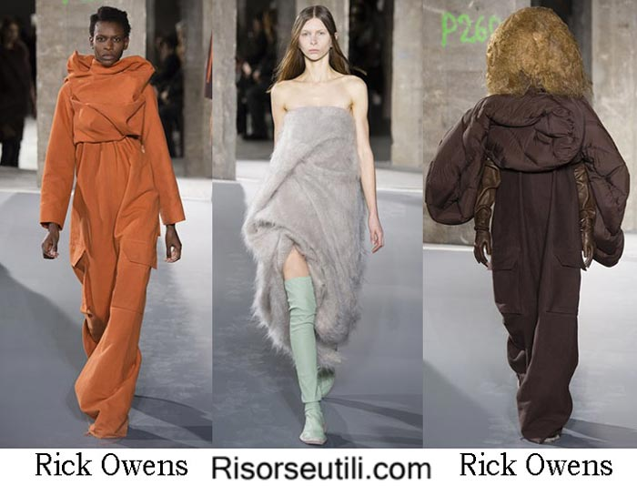Fashion brand Rick Owens fall winter 2016 2017