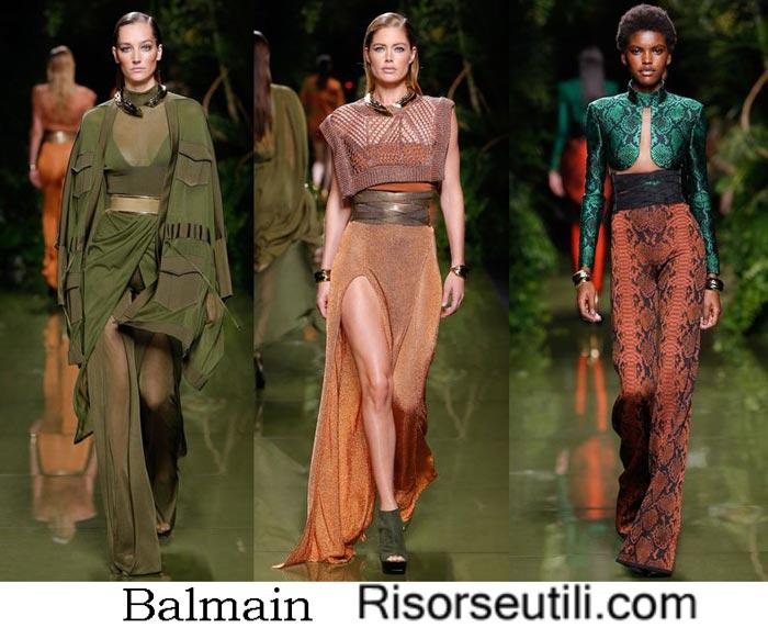 Balmain spring summer 2017 fashion show for women