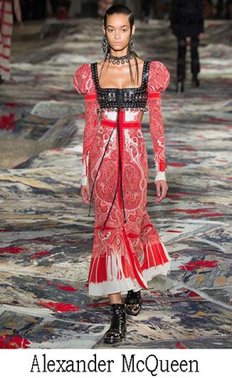 Embroidered dresses Alexander McQueen spring summer 2017