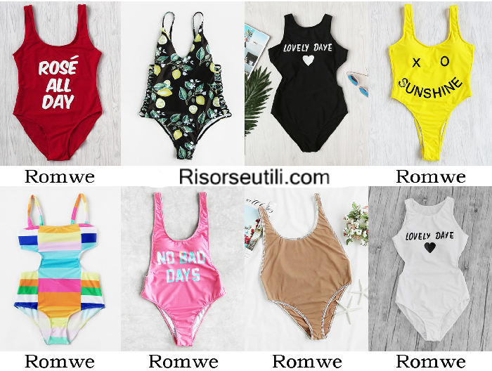 Swimwear Romwe summer 2017