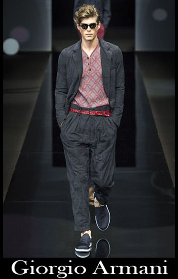 Fashion Giorgio Armani spring summer men look 1