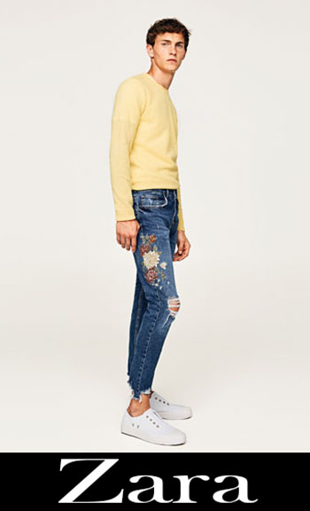 Embroidered jeans Zara fall winter men 1