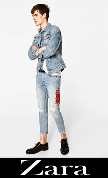 Embroidered jeans Zara fall winter men 5